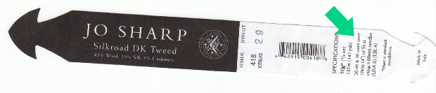 Yarn label