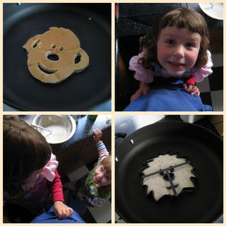 Shaped pancakes