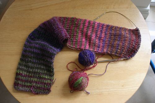 Noro striped scarf